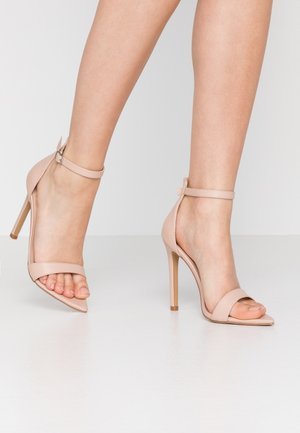 POINTED BARELY THERE  - High heeled sandals - nude