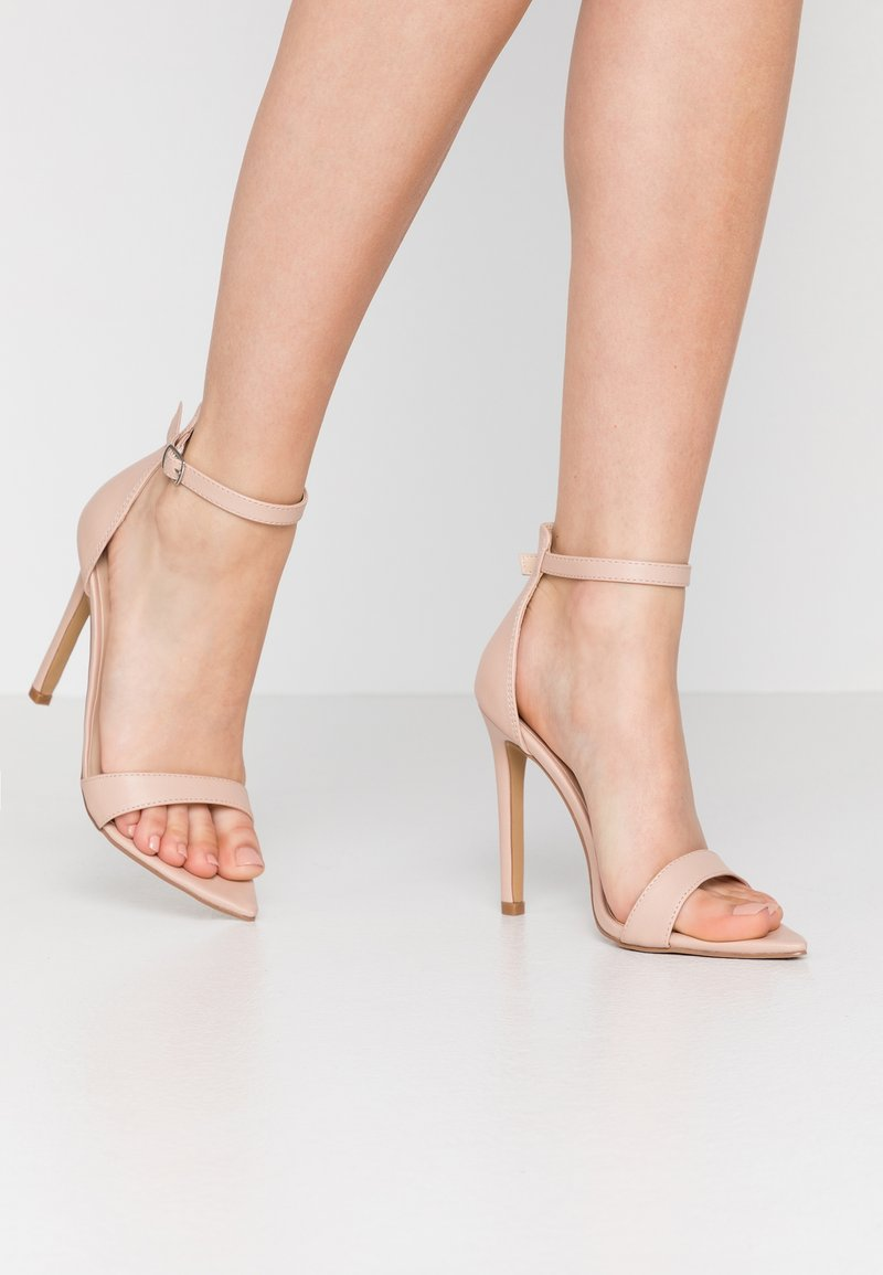 Lost Ink Wide Fit - POINTED BARELY THERE  - Sandali con tacco - nude