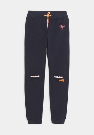 SMALL BOYS TROUSERS MONSTER DINOSAUR - Tracksuit bottoms - nachtblau