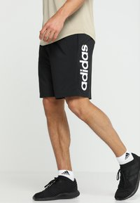 adidas Performance - CHELSEA ESSENTIALS PRIMEGREEN SPORT SHORTS - Krótkie spodenki sportowe - black/white - 0