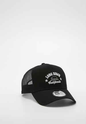 DESTINATION TRUCKER - Gorra - black/ white