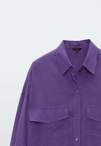 Massimo Dutti - Hemdbluse - dark purple - 2
