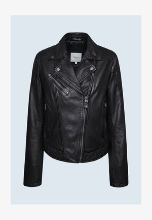 ALBA - Leather jacket - black