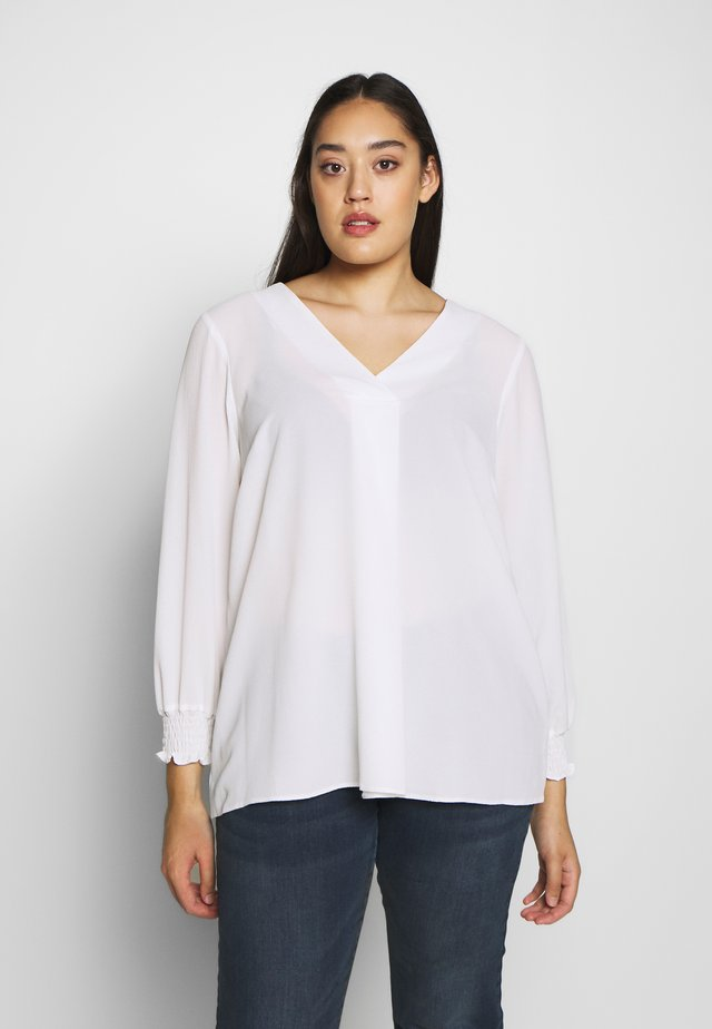 CROSS FRONT - Blouse - ivory