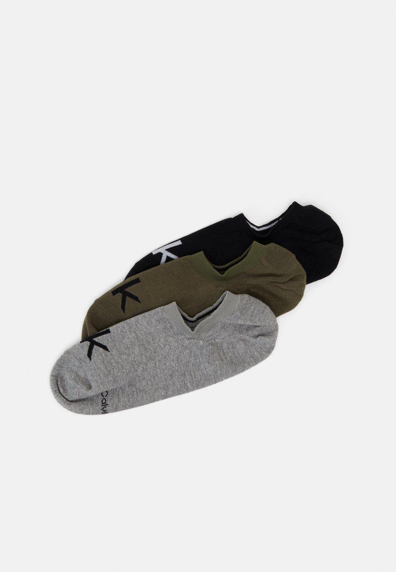 Calvin Klein Underwear - MEN LINER LOGO ALBERT 3 PACK - Ponožky - olive combo