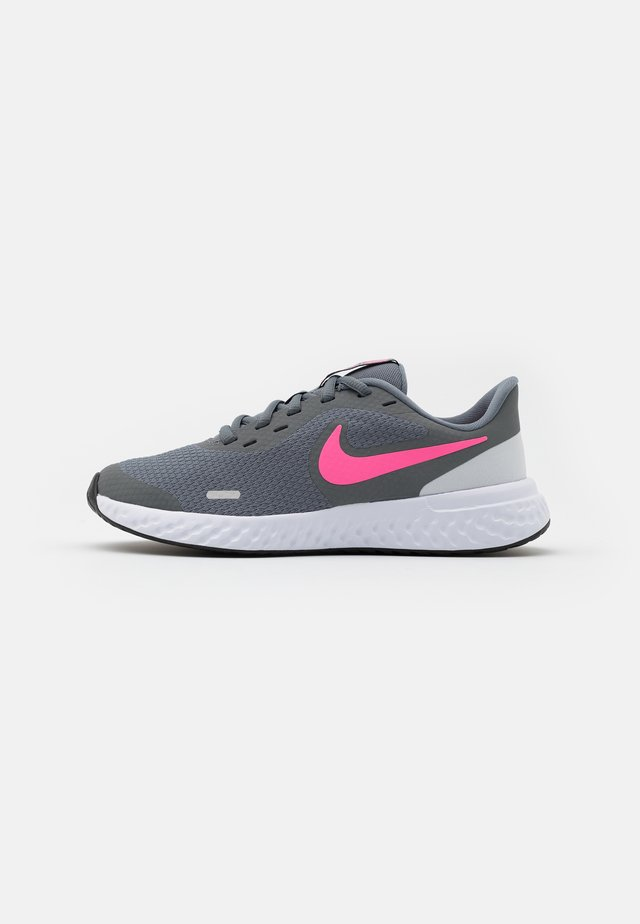 REVOLUTION UNISEX - Neutral running shoes - smoke grey/pink glow/photon dust/white