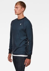 G-Star - JIRGI TAPE DETAIL ROUND LONG SLEEVE - Felpa -  blue/cricket blue - 2
