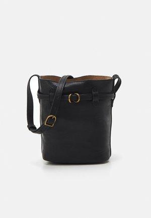 DRAWSTRING MINI - Across body bag - black