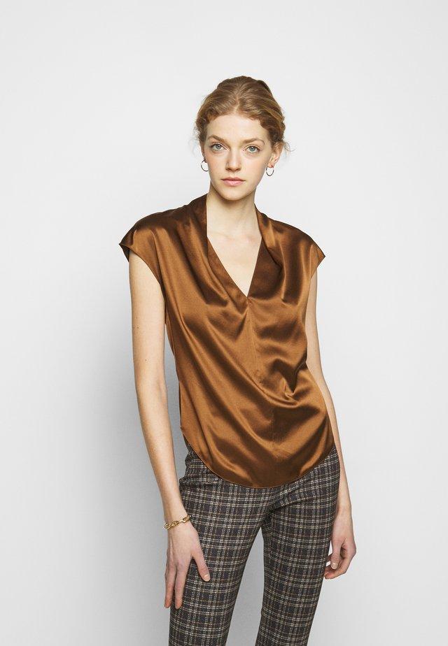 DRAPE  - Blouse - copper brown
