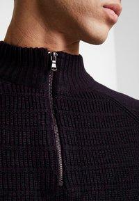 Burton Menswear London - HALF ZIP  - Sweter - burgundy - 3