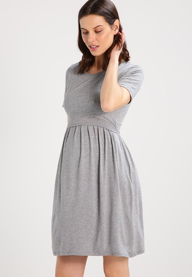 LIMBO - Jersey dress - grey melange