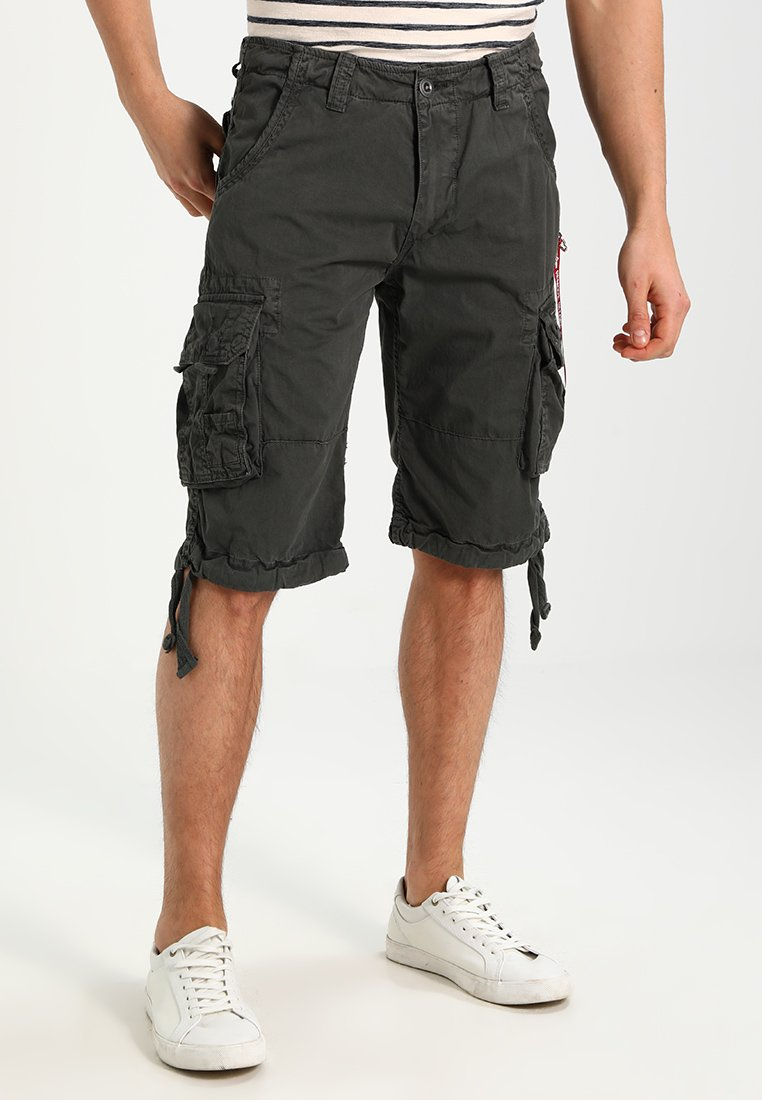 Alpha Industries - JET - Pantaloni cargo - grey/black