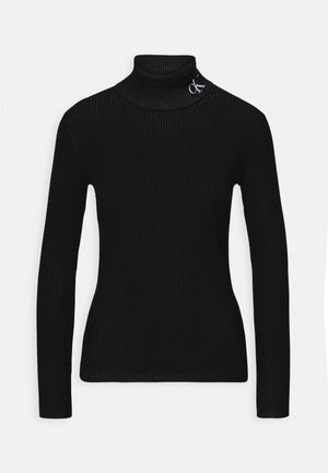 ROLL NECK - Trui - black/bright white