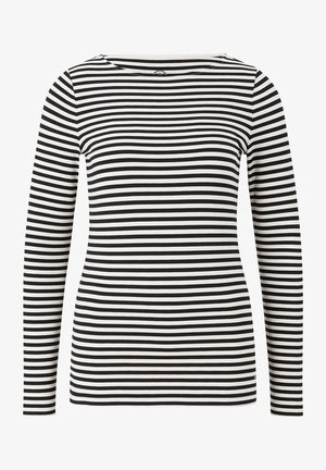 LOUNA - Long sleeved top - off white/schwarz