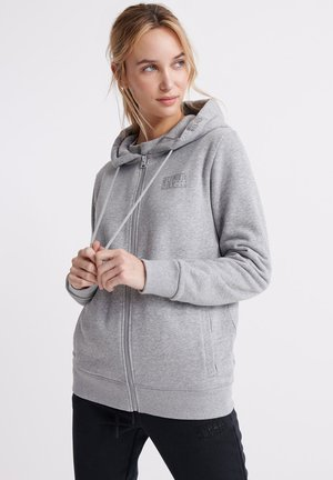 SUPERDRY CORE SPORT ZIP HOODIE - Zip-up hoodie - grey marl