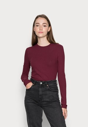 GINGER LONGSLEEVE - Långärmad tröja - tawny port red