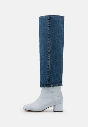 STIVALE - Over-the-knee boots - denim/black/white
