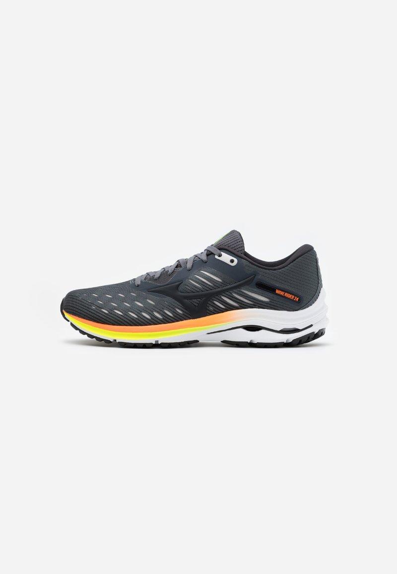 Mizuno - WAVE RIDER 24 - Neutral running shoes - castle rock/phanton/orange