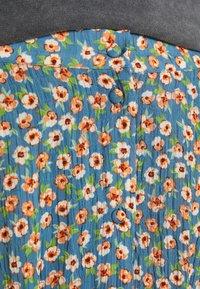 Vila - VICANELA MIDI SKIRT - A-line skirt - colony blue/salmon buff - 5