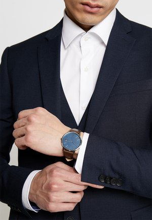 MOON - Orologio - silver-coloured/blue/brown
