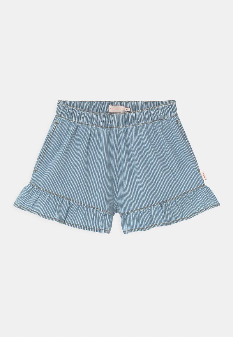 TINYCOTTONS - STRIPED  - Denim shorts - blue
