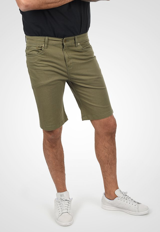 Denim shorts - dusty olive
