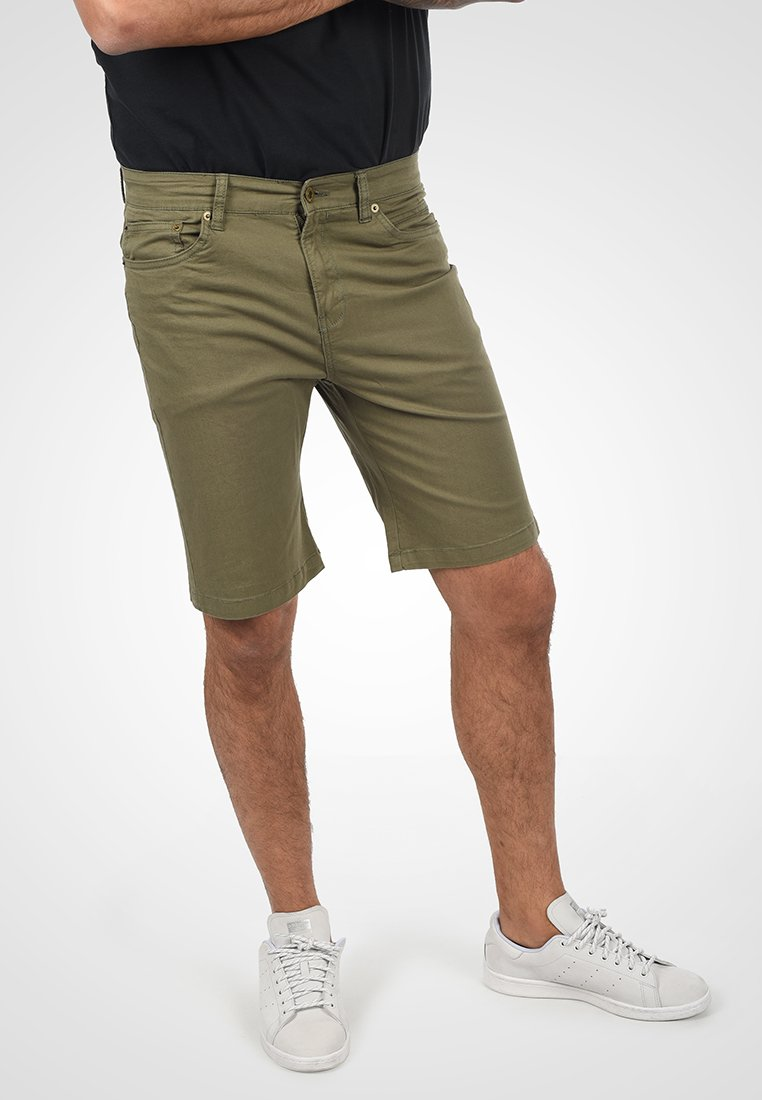 Solid - Jeansshort - dusty olive
