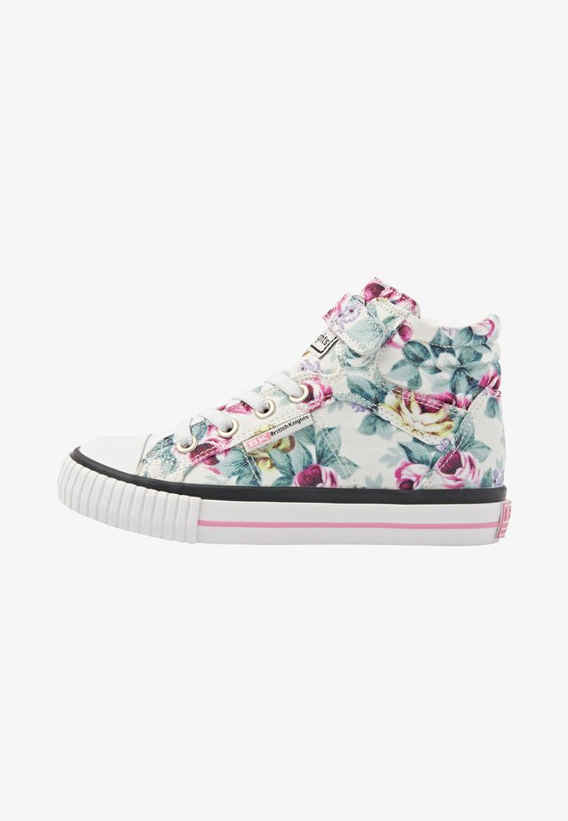 DEE - Sneakers hoog - white flower
