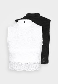 Even&Odd Petite - Top - black/white - 5