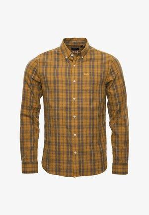 CLASSIC LONDON - Shirt - ochre melange check