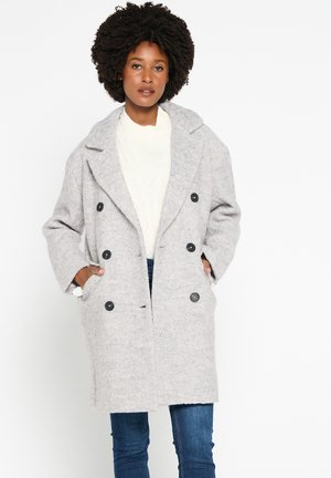 WITH COLLAR AND BUTTONS - Short coat - grey