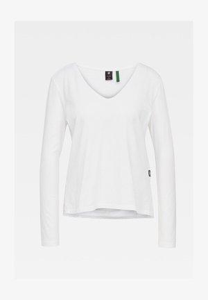 CORE STRAIGHT - Långärmad tröja - white