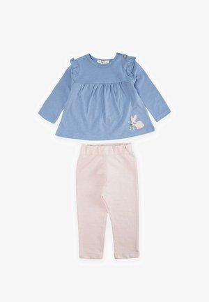 SET - Teplákové kalhoty - blue/light pink