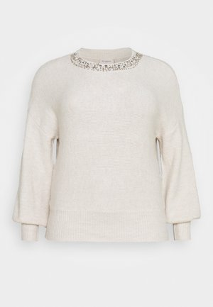 CARELSA - Pullover - pumice stone/cloud dancer melange