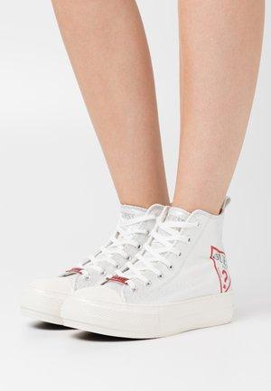 Sneakers hoog - argent