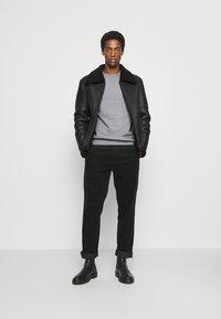 Selected Homme - SLHJASON CREW NECK - Sweatshirt - medium grey melange - 1
