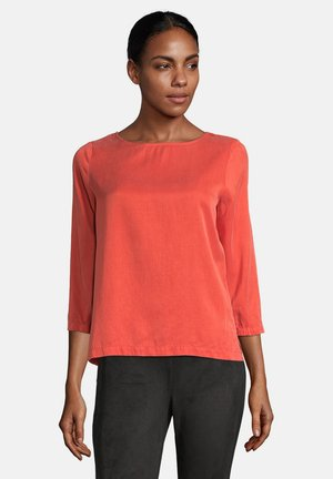 BLUSENSHIRT UNIFARBEN - Blouse - Orange