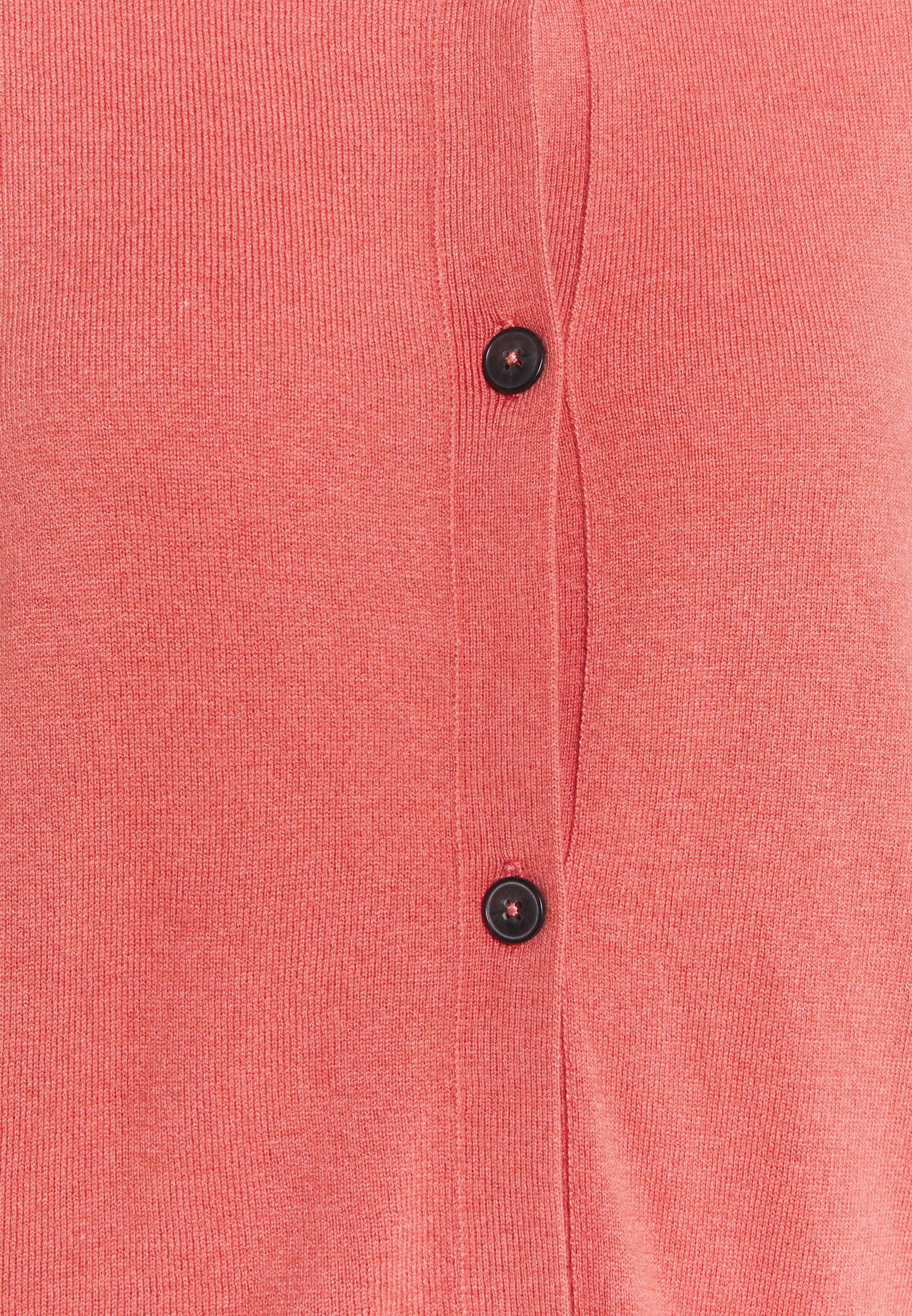 Marc O'polo Cardigan Longsleeve Button Closure Saddle Shoulder - Hazy Peach/oransje
