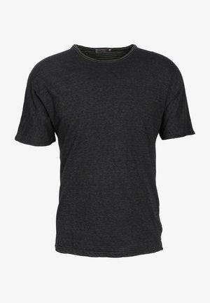Basic T-shirt - olive stripes