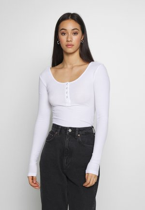 PCKITTE - Long sleeved top - bright white