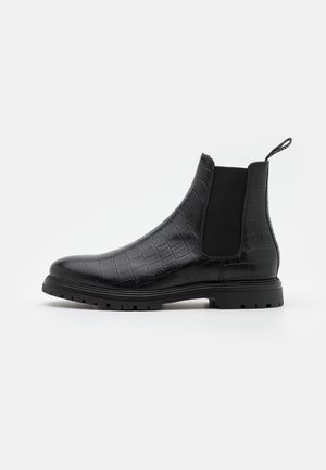 CORMAC CROCO - Classic ankle boots - black