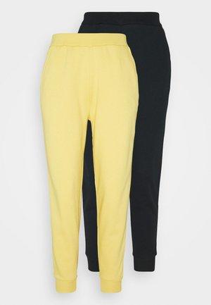 2 PACK REGULAR FIT SWEATPANTS - Pantaloni sportivi - black/yellow