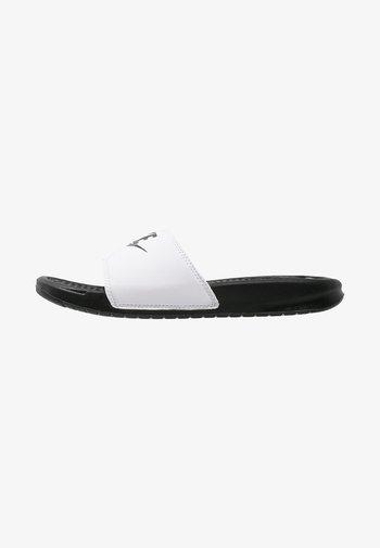 BENASSI JDI - Pool slides - white/black