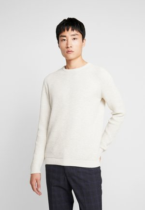 SHXNEWVINCEBUBBLE CREW NECK - Strickpullover - egret/twisted bone white