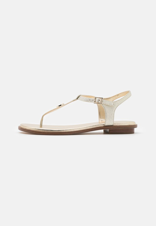 MALLORY THONG - Zehentrenner - pale gold