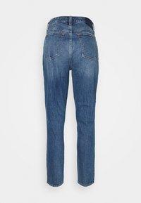Abercrombie & Fitch - DEST SODA CURVY - Skinny džíny - dark-blue denim - 1