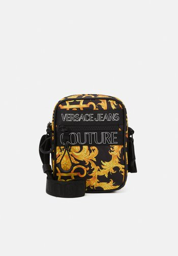 UNISEX - Across body bag - black/gold