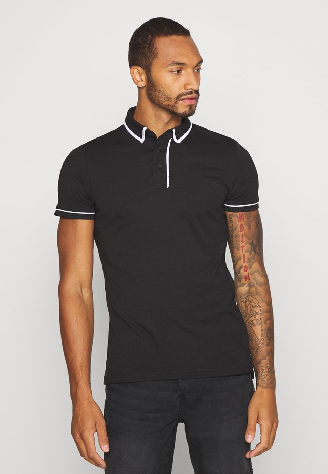 VIRGIL - Koszulka polo - jet black/optic white