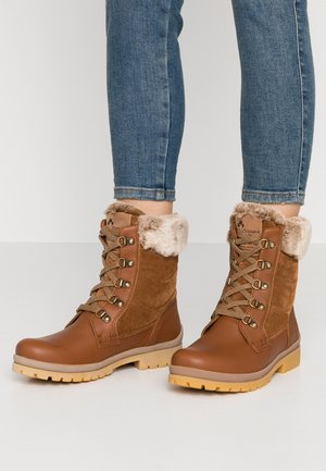 TUSCANI - Lace-up ankle boots - bark
