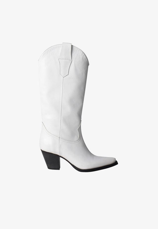 JESSE - Cowboy/Biker boots - white